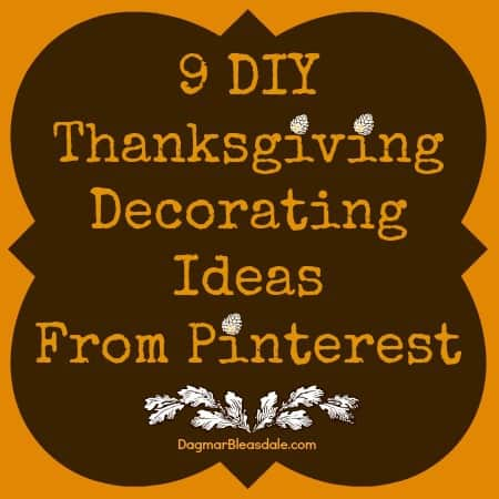 DIY Thanksgiving decorating ideas