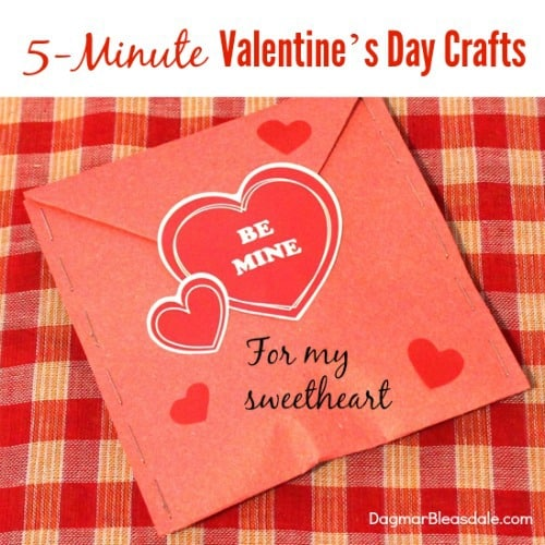 5 minute valentine 39 s day crafts cards gifts dagmar 39 s home for Home decor 5 minute crafts