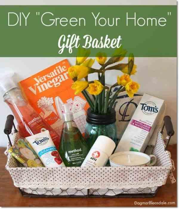 DIY Green Your Home Gift Basket. DagmarBleasdale.com