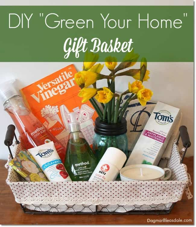 DIY Green Your Home Gift Basket. DagmarBleasdale.com