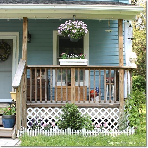 adding lattice to bottom of porch, DagmarBleasdale.com