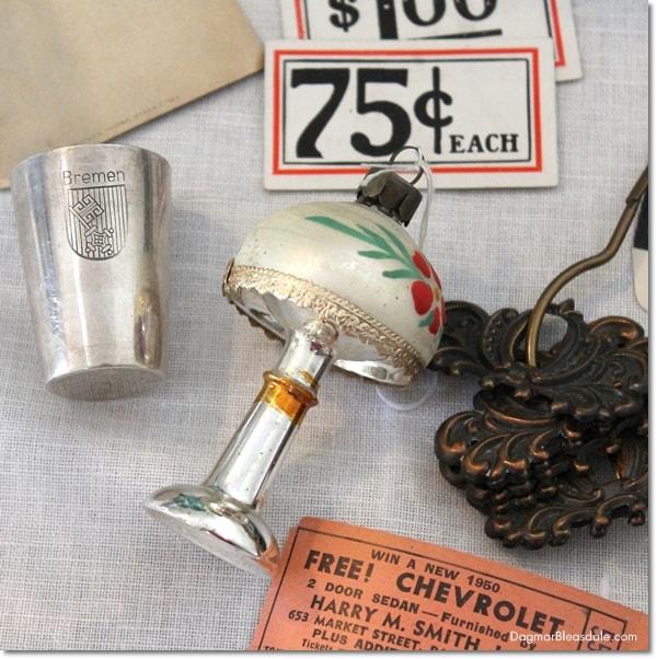 vintage German Christmas lamp ornament, DagmarBleasdale.com