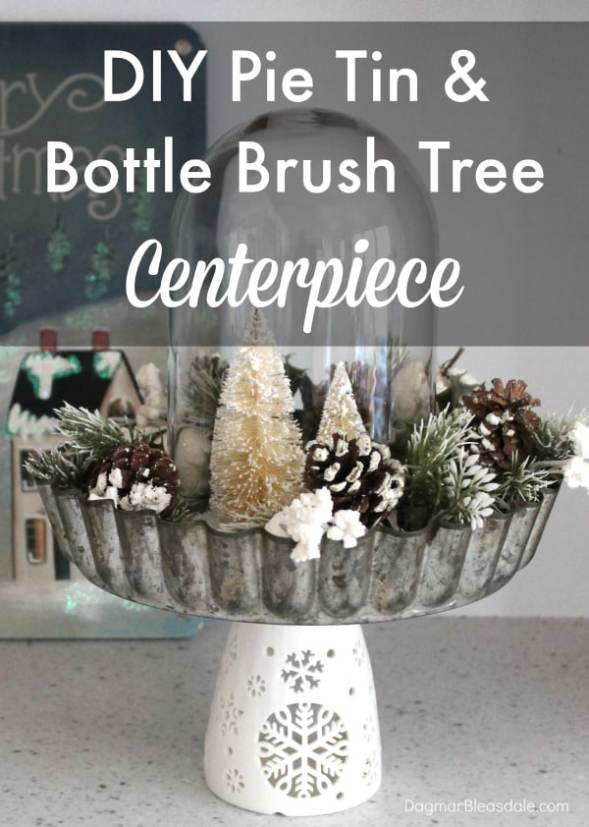 diy bottle brush tree centerpiece, DagmarBleasdale.com