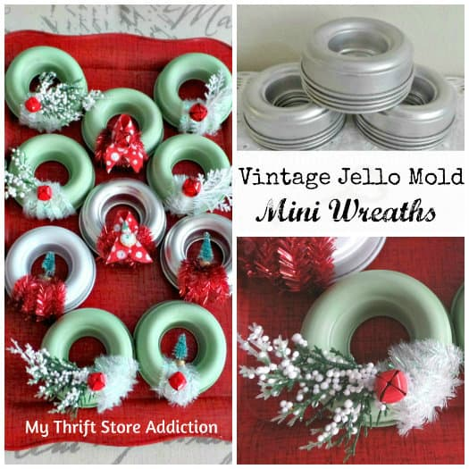 vintage Jello molds wreaths