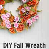DIY fall wreath square