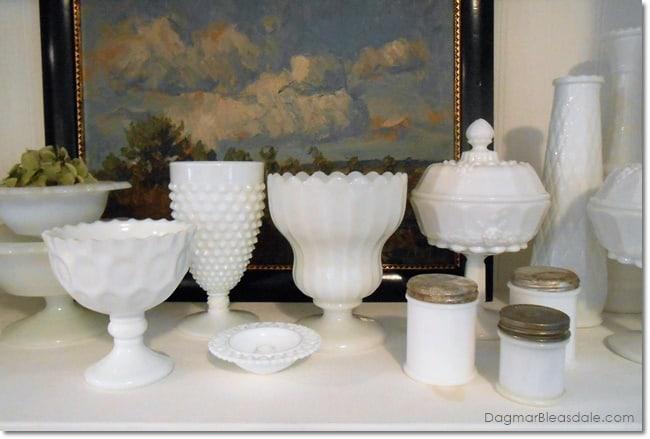 vintage milk glass collection