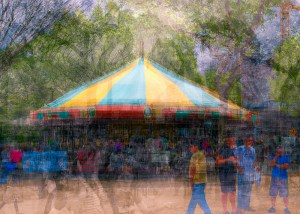 Carousel In the Round by Stephen D'Agostino. An example of photo impressionism using the in the round montage technique.