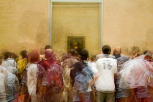 In Front of The Mona Lisa 1 by Stephen D'Agostino. An example of photo impressionism using the multiple exposure technique.