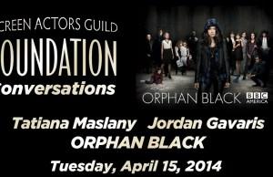 Tatiana Maslany & Jordan Gavaris Talk 'Orphan Black' with the SAG Foundation
