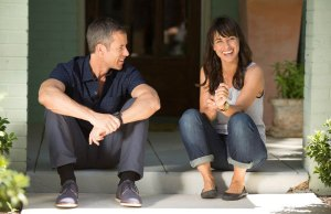 Constance Zimmer and Guy Pierce in Results