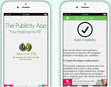 The Publicity App for Actors