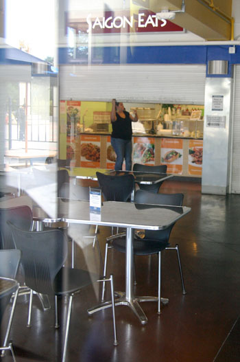 Campus restaurant Saigon Eats, which is among the vendors in the Bear's Lair Food Court, closed recently as a result of outstanding rent totaling $32,000.