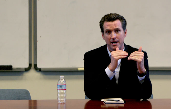 Lt. Gov. Gavin Newsom announced the creation of a work group designed to discuss funding California's higher education system.