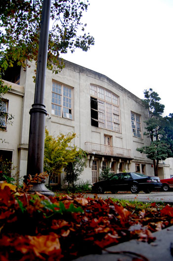 The old gym at Berkeley High School is being torn down because it is seismically unsound.