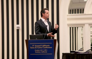 Lieutenant Governor Gavin Newsom gave the Welcome Keynote Address at the 5th Annual California Town & Gown Conference.