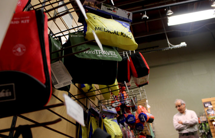 Due to recent earthquake activity and predicitons, REI has seen an increase in sales of emergency supplies.