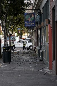 Raleigh's and Cafe Intermezzo, both Berkeley favorites, are closed as a result of the fire.