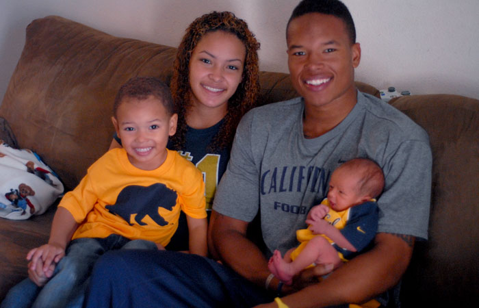 "Between football and classes, Cal receiver Marvin Jones spends his time with his girlfriend, Jazmyn, and two sons. He says marriage is on the horizon, but he's keeping the specifics under wraps: ""It might be soon."""