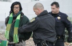 Alex Kim, a member of Occupy Cal, was detained on Wednesday afternoon.