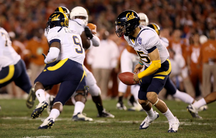 Zach Maynard and the Cal offense turned the ball over five times in the Bears' 21-10 Holiday Bowl loss to Texas on Wednesday.