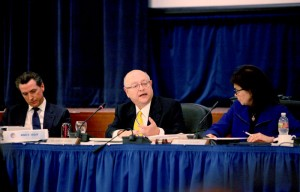 UC President Mark Yudof addresses the UC Board of Regents at their January meeting.