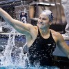 Junior Caitlin Leverenz garnered four first-place finishes — two individual and two relay — in the NCAAs this past weekend.