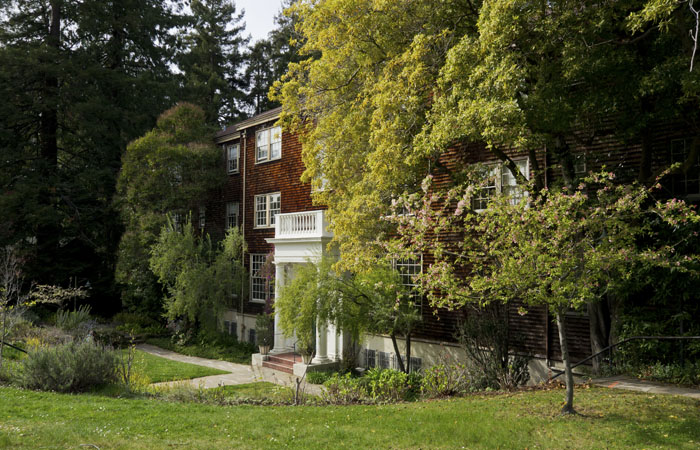 A woman was found dead in a UC Berkeley faculty club on Sunday morning.