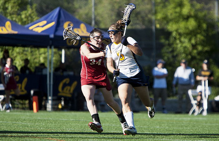 Midfielder Emily Abbood was one of four seniors honored in Cal's game against Stanford on Friday.