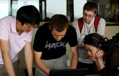 Hackers @ Berkeley hosts a programming competition against Stanford.