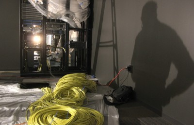 Cords are bundled together, waiting to be put together to broadcast 850 live sporting events for the brand new Pac-12 Networks. (Anna Vignet/Senior Staff)