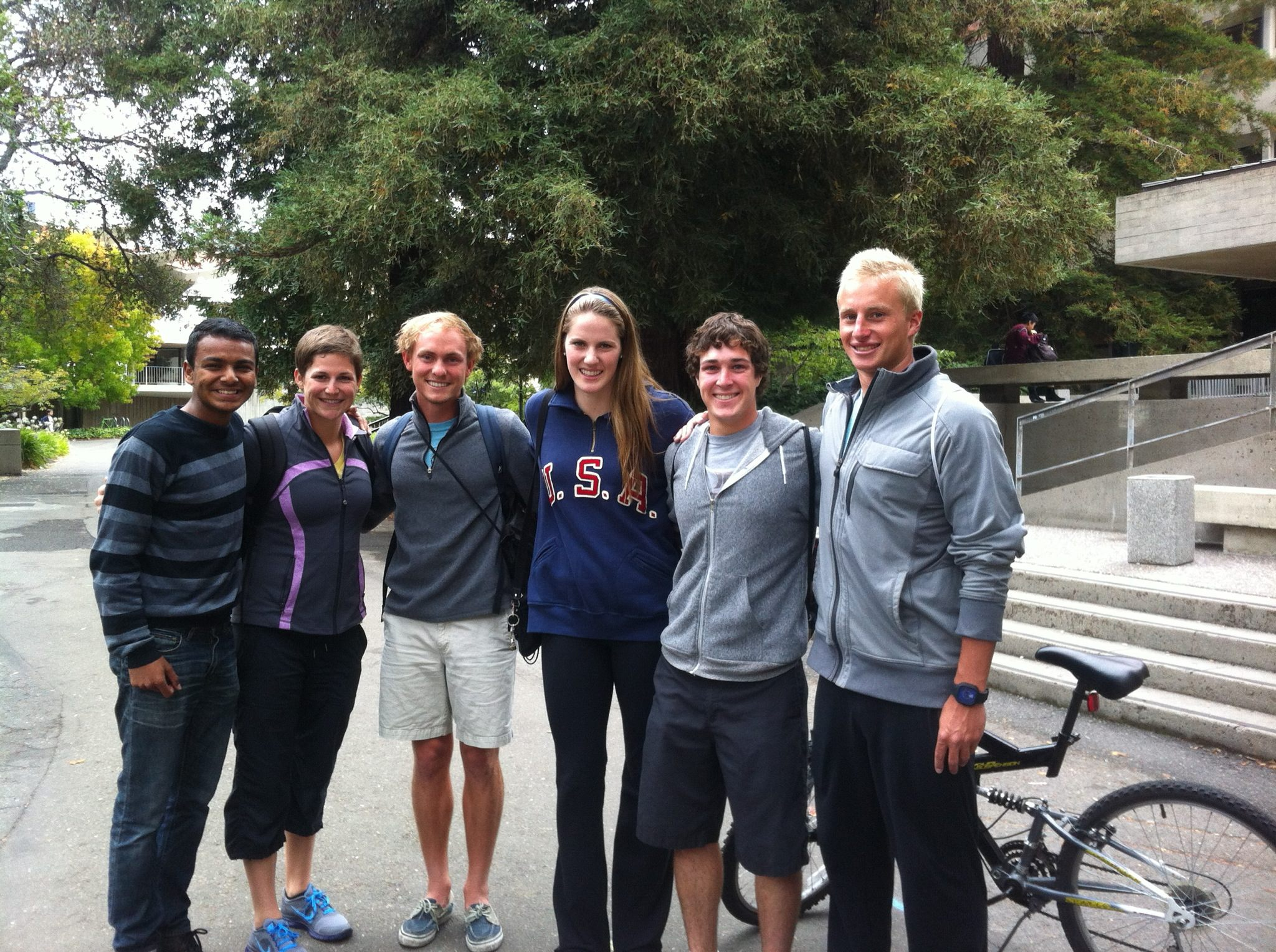Missy Franklin was spotted visiting campus earlier this semester.