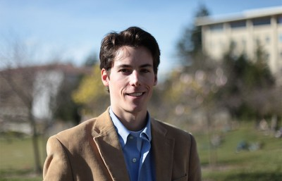 Harrison Tibbetts, pictured above, is the  campaign manager for the Californians for Responsible Economic Development. The group is focused on a campaign for oil tax that would provide funding for higher education.