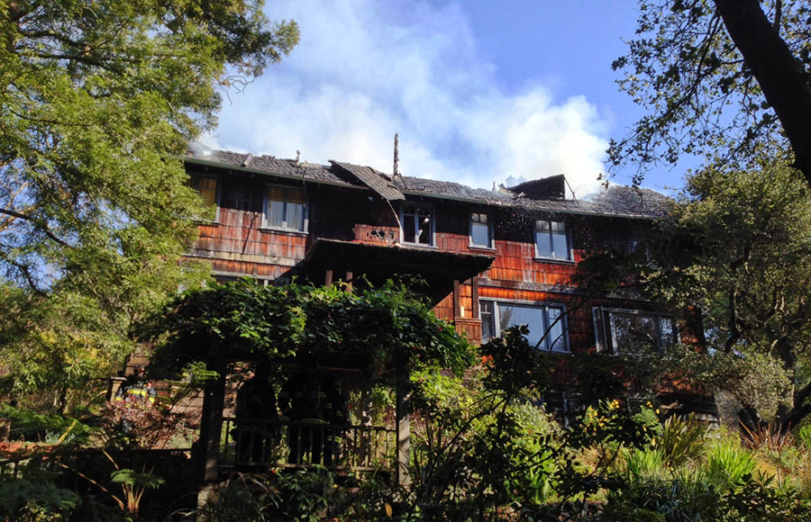 The house on fire in the Berkeley Hills was at 1177 Keith Ave.