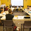 The ASUC Senate meets on March 14. ASUC Executive Vice President Justin Sayarath was forced to call a recess at the senate meeting Wednesday night to find senators to meet the two-thirds majority necessary to vote on proposed bills.
