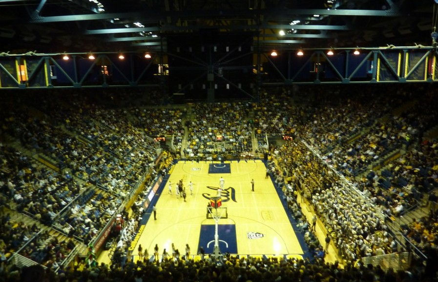 Spectator's view of Cal vs. Stanford on Wednesday night