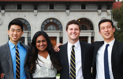 The Student Action executive slate, with candidates Ryan Kang, Safeena Mecklai, Rafi Lurie and Chen-Chen Huo, along with a CalSERVE senate candidate, allegedly violated campaign bylaws.