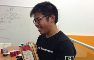 Freshman Dylan Chun Wong won HackJam2 by designing a roleplaying-style game that makes Facebook posts interactive.