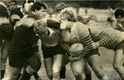 In May 5, 1985, the Cal rugby team won its first national title under Coach Jack Clark over Maryland at Pebble Beach, Calif.