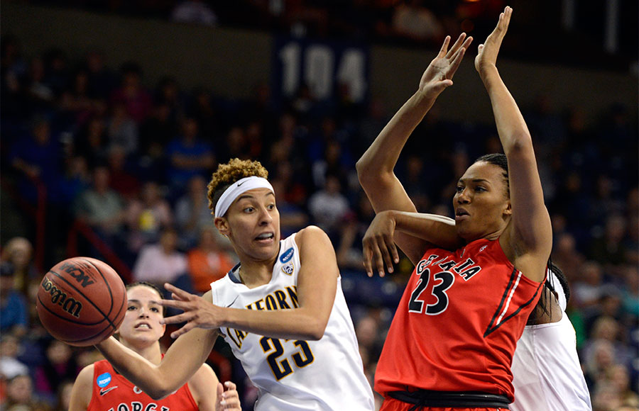 Guard Layshia Clarendon arguably had the biggest game of her four-year career at Cal by singlehandedly carrying the Cal women's basketball team to the Final Four over Georgia. She scored a team-high 25 points in a 65-62 overtime nailbiter Monday night at Spokane, Wash.