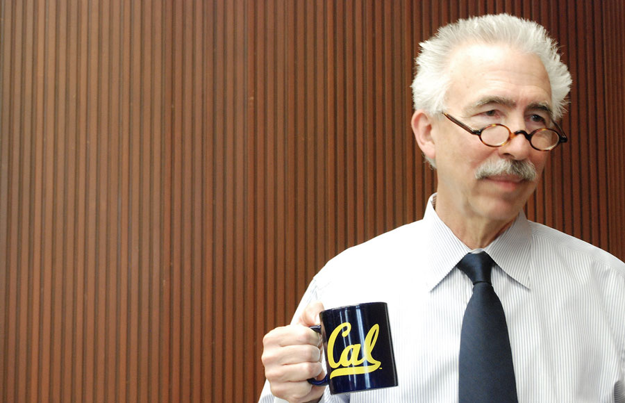 Nicholas Dirks enjoys his first day at work as UC Berkeley Chancellor in a welcome reception.