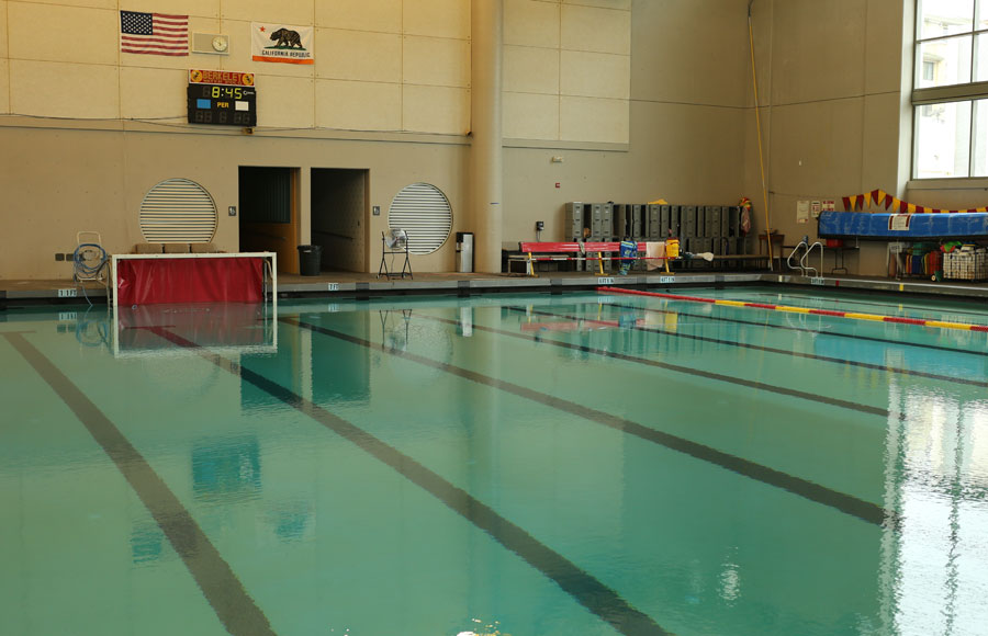 Berkeley High School's swimming pool was closed Wednesday due to evidence of chemical imbalances.