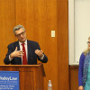 Filippo Grandi, commissioner-general of a United Nations Palestinian aid agency, gave a lecture  on displaced peoples' need for humanitarian assistance from nations such as the United States.