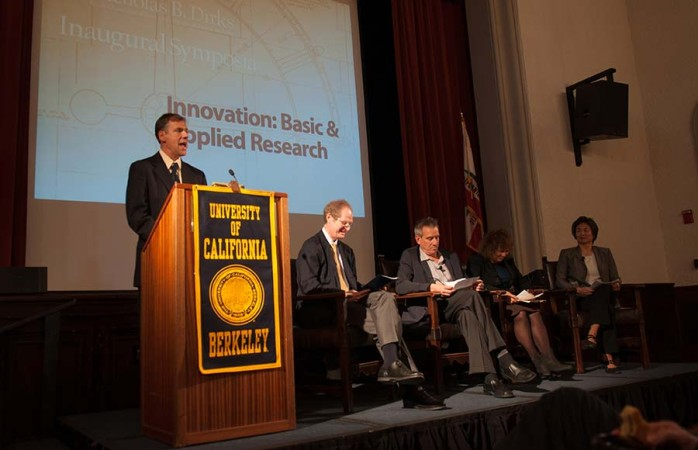 Professors and scholars spoke in a symposium tackling the issue of reinvigorating research in universities and in UC Berkeley.