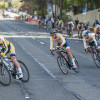 Collegiate cyclists race through the intersection of Bowditch Street and Durant Avenue during the Berkeley Streets Criterium. The competition, hosted by Cal Cycling, took place Sunday.