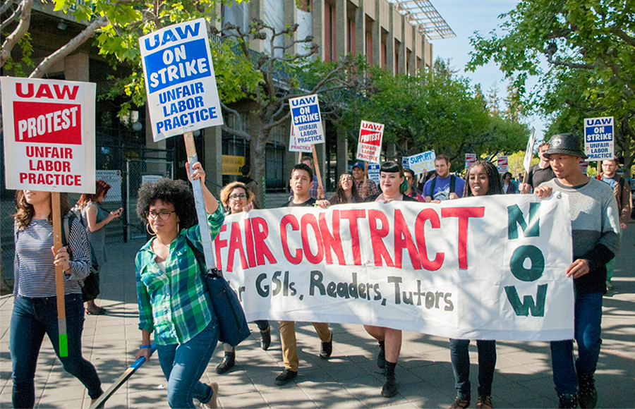 union sehands picket traveling circus berkeley