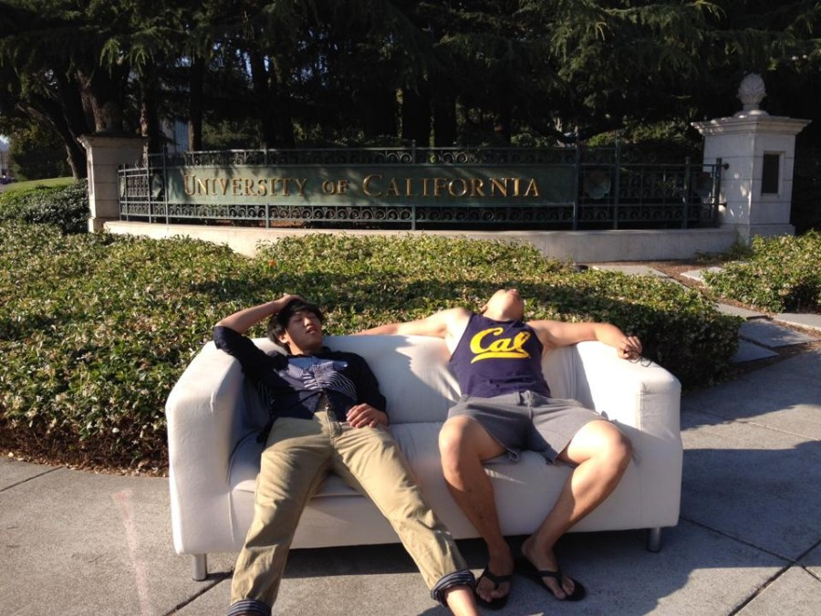 dudes resting on couch