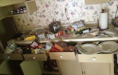 Eileen Rivera came home to find items in her kitchen strewn about.
