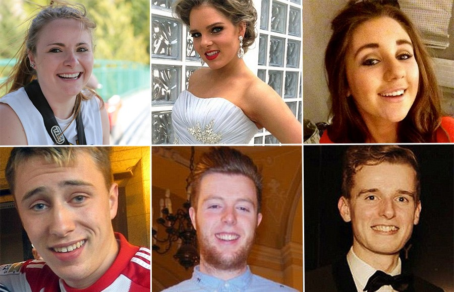 Clockwise from top left: Ashley Donohoe, Olivia Burke, Eimear Walsh, Lorcan Miller, Eoghan Culligan, Niccolai Schuster