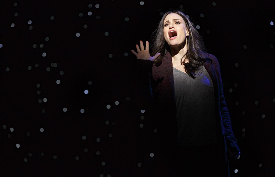 If/Then Richard Rodgers Theatre  Cast List: Idina Menzel LaChanze Anthony Rapp James Snyder Jerry Dixon Jenn Colella Jason Tam Tamika Lawrence Joe Cassidy Miguel Cervantes  Curtis Holbrook  Stephanie Klemons Tyler McGee Ryann Redmond  Joe Aaron Reid Ann Sanders Production Credits: Michael Greif (Direction) Larry Keigwin (Choreography) Mark Wendland (Scenic Design) Emily Rebholz (Costume Design) Kenneth Posner (Lighting Design) Brian Ronana (Sound Design) Carmel Dean (Musical Direction) Tom Kitt and Michael Starobin (Orchestrations)  Other Credits: Lyrics by: Brian Yorkey Music by: Tom Kitt Book by: Brian Yorkey
