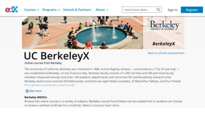 UC Berkeley's Massive Open Online Courses, offered through online learning platform edX, were among those alleged to lack an accessible design.